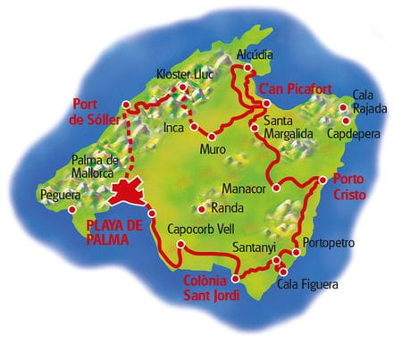 Map Mallorca Loop Tour