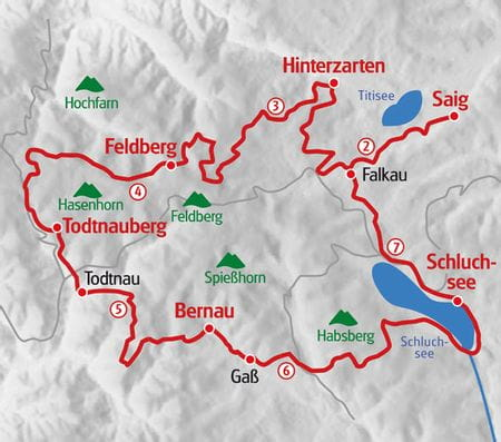 Hiking Black Forest map