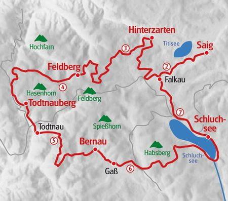 Wandern Hochschwarzwald Karte