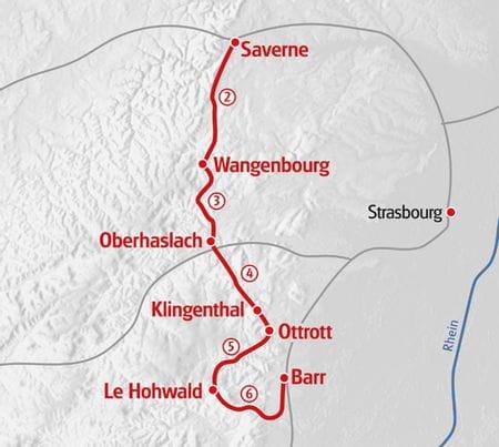 Karte Eurohike Elsass 2