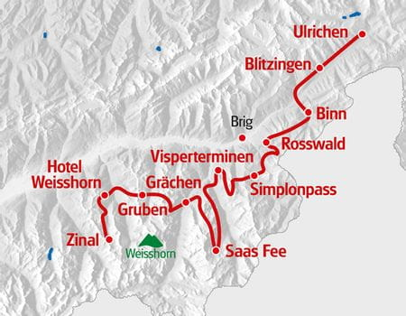 Alpenpässeweg Ulrichen - Zinal