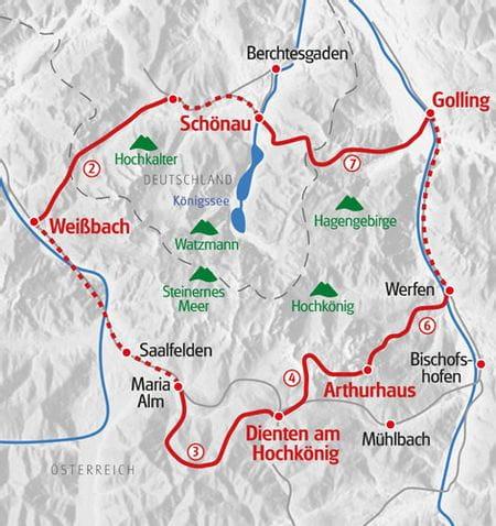 Wandern Koenigssee Karte