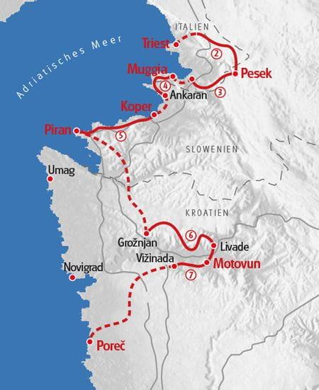 Wandern Istrien Karte