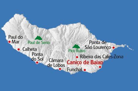 Multiaktivurlaub Madeira Karte