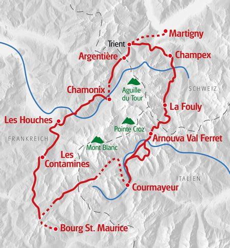 ET K Mont Blanc - Gesamtroute 21