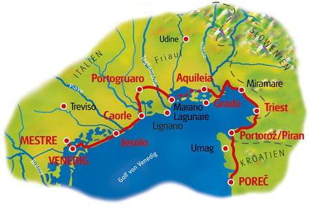 Karte Venedig - Porec