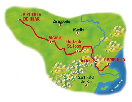 Karte Südkatalonien
