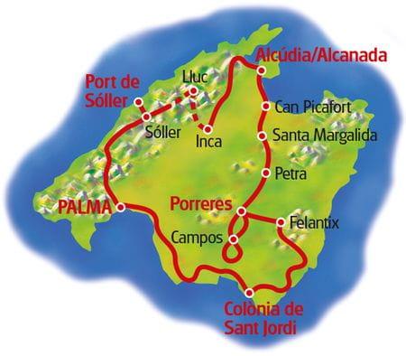 Radreise Mallorca mit Charme - Karte