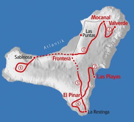 Wandern El Hierro Karte