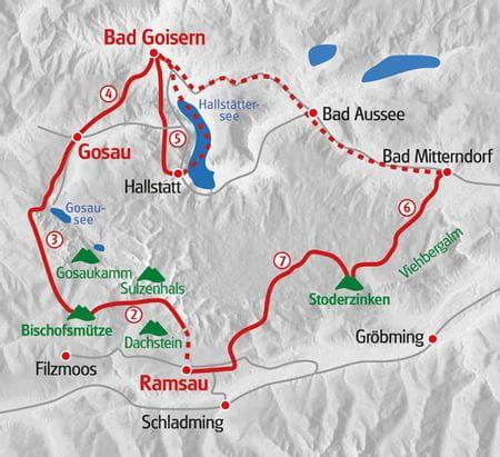 Wandern Dachstein Karte
