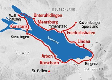 Radreise Bodensee Karte
