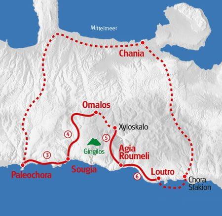 Wandern Kreta Karte