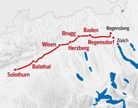Wandern: Jura Höhenweg Regensberg - Solothurn