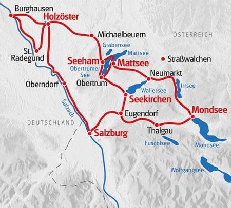 Radreise Zehn Seen Karte