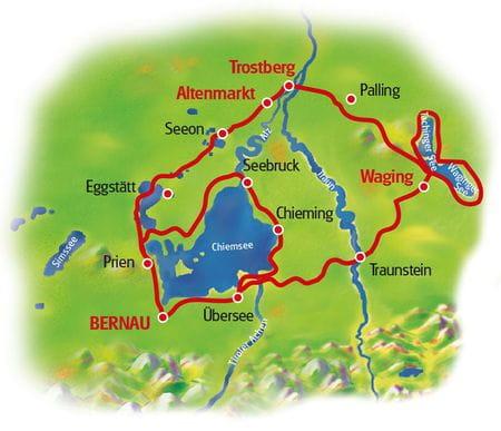 Karte Chiemsee & Waginger See