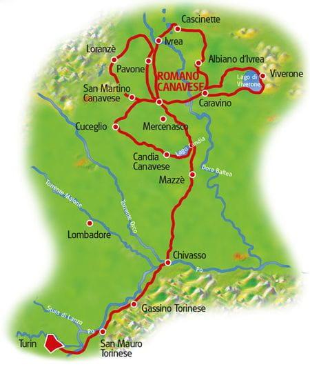 Karte Piemont Sternfahrt