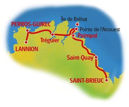 Karte Rosa Granitküste