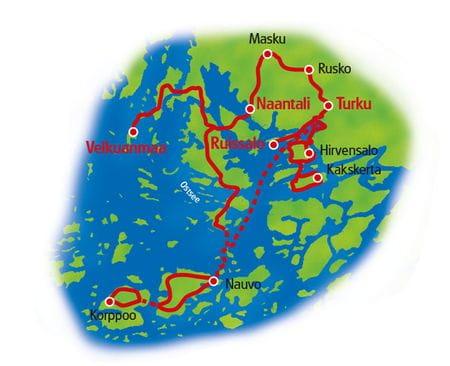 Karte Finnlands Inselwelten