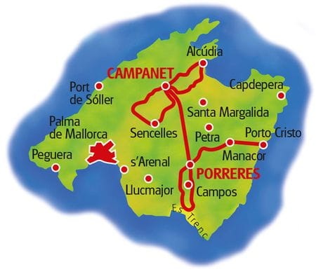 Karte Mallorca Doppelsternfahrt