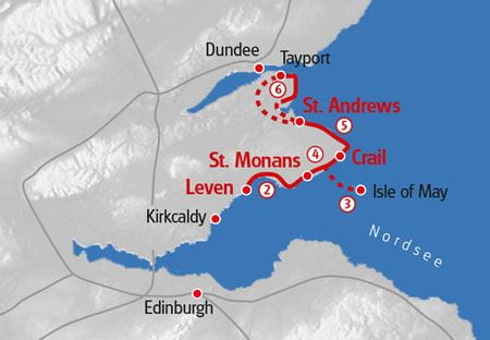 Kuestenwandern Schottland Karte