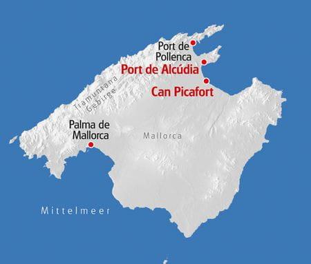 Multiaktivurlaub Mallorca Karte