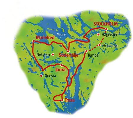 Karte Stockholm Rundfahrt