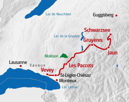 Alpenpanoramaweg Schwarzsee - Genfersee