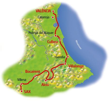 Karte Alicante