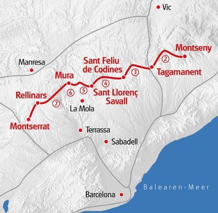 Wandern Karte Eurohike Katalonien