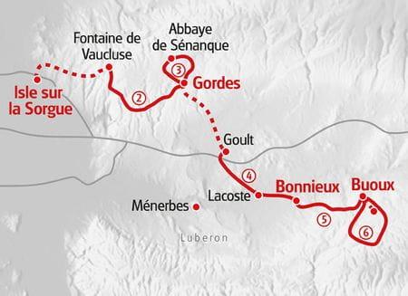 Wandern Provence Karte