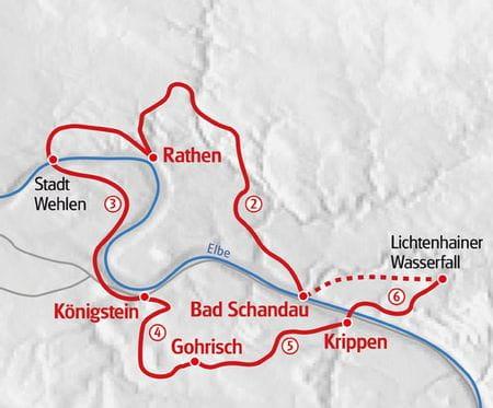 Wandern Malerweg Karte