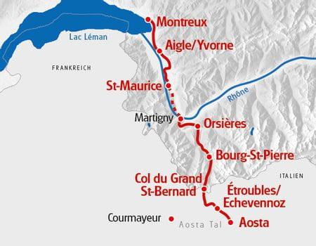 Karte Via Francigena Süd