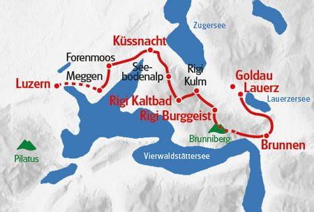 Wanderreise Vierwaldstaettersee Karte