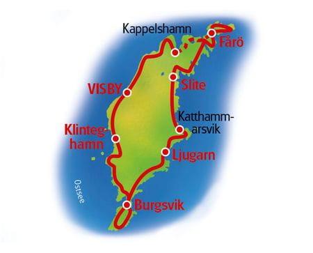 Karte Gotland