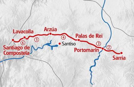 Karte Eurohike Jakobsweg Spanien