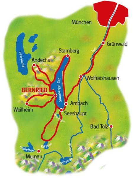 Karte Starnberger See Sternfahrt