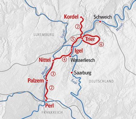 Wandern Mosel und Eifelsteig Karte