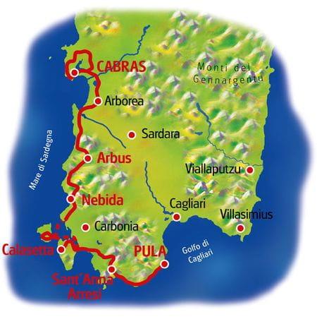 Karte Sardinien