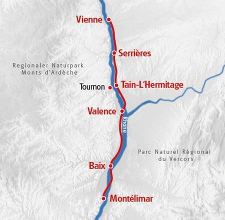 Radreise entlang der Rhone
