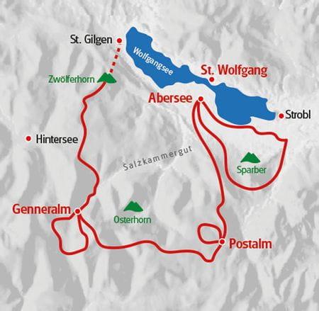 Salzkammergut Almwandern Karte