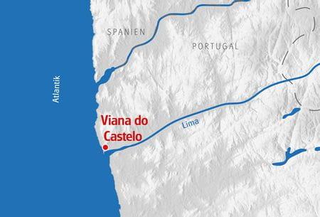 Multiaktivurlaub Nordportugal Karte