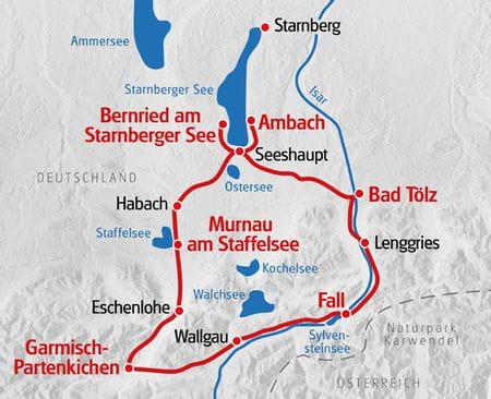 Isar Radweg Karte