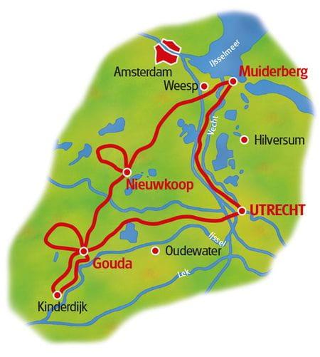 Karte Holland Wasserlandschaften
