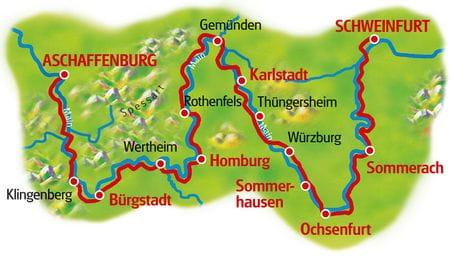 Karte Winzertour am Main