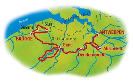 Karte Flandern