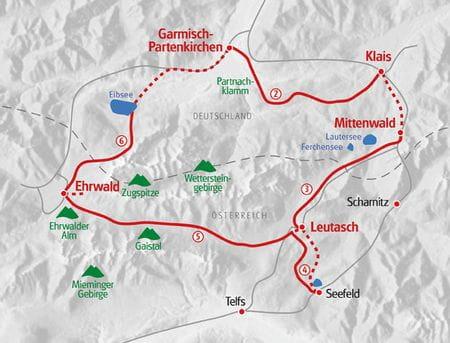 Wandern Zugspitze Karte