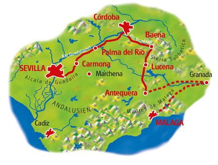 Map Andalusia
