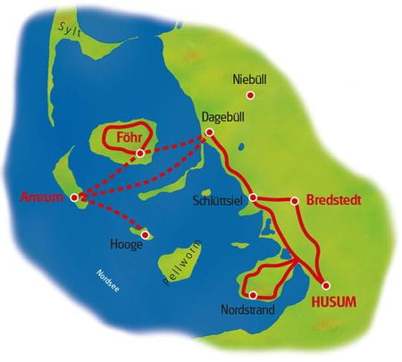 Karte Nordfriesland