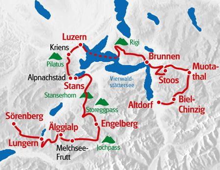 Karte Tell Trail