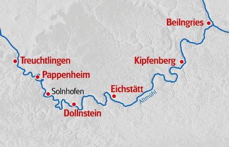 Kanu Altmuehltal Karte